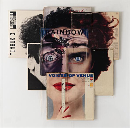 Christian Marclay, Voices of Venus, 1992, seven album covers and thread