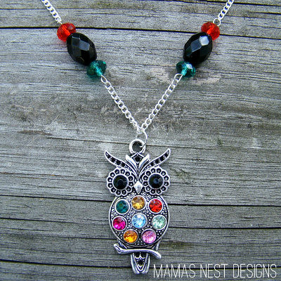 colorful owl - mamas nest designs