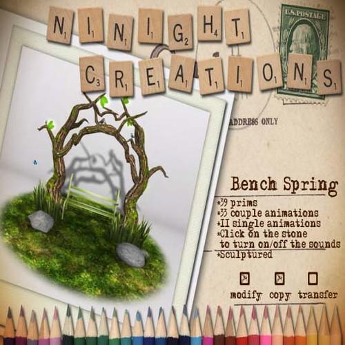 NN Bench Spring by Cherokeeh Asteria