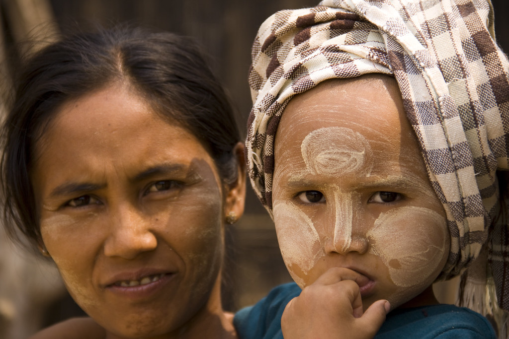 A Burmese Mother & Child