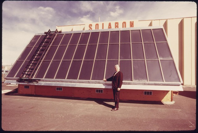 DOCUMERICA: John Bayliss, president of the Solaron Corporation, the first publicly owned solar energy company in the nation, 05/1975 by Boyd Norton.