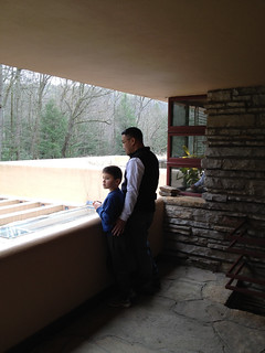 father & son at fallingwater