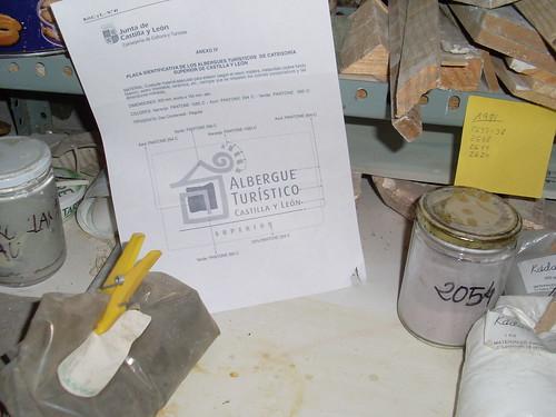 Preparando placa albergue