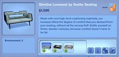 Slimline Loveseat by Svelte Seating