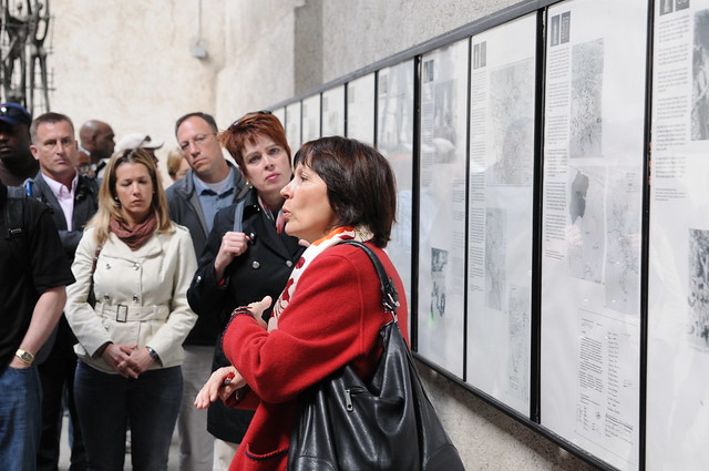 USARAF staff visit concentration camp