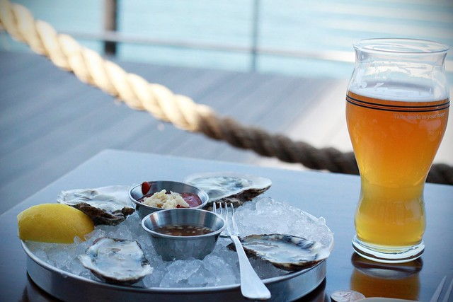 an afternoon of oysters and beer