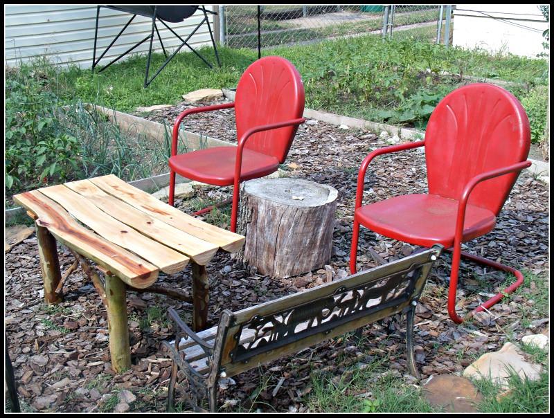 patio furniture set up