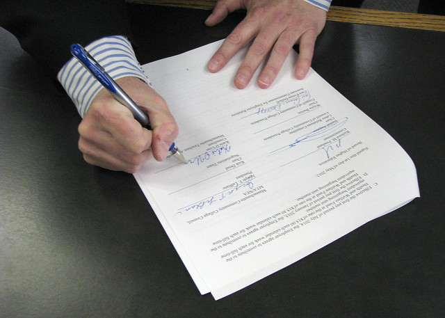 MCCC Contract Signing