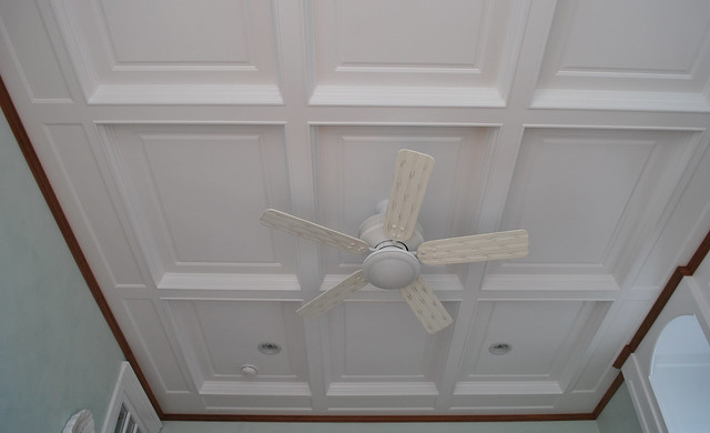 Coffered ceiling with beaded raised inner panel bedroom for Raised bedroom ceiling