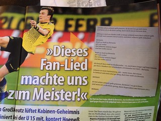 """Kevin Großkreutz (BVB): """"Dieses Fan-Lied machte uns zum Meister!"""" (Sport Bild)"""