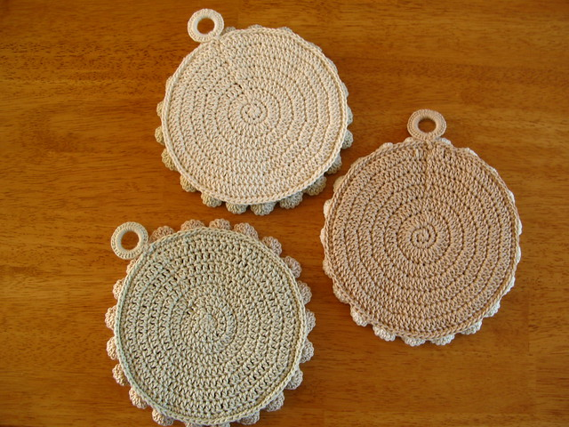 Pretty Petals Potholders