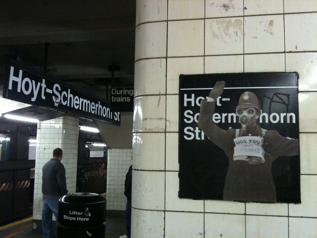 Have You Got Yours? (Uptown platform at Hoyt-Schemerhorn)