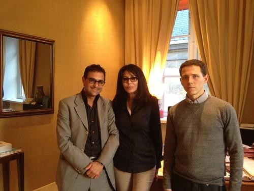 Réunion de travail au Ministère des affaires étrangères avec la Ministre Yamina Benguigui, Arash Derambarsh et Marc Maniez (Manager Twitter) pour valoriser la francophonie dans le monde by Arash Derambarsh