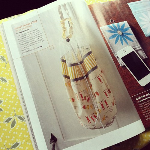 Travel laundry bag in Modern Patchwork magazine