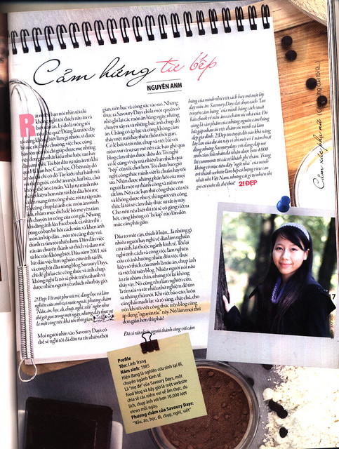 Savoury Days and me on 2!Đẹp Magazine (June 7, 2012)