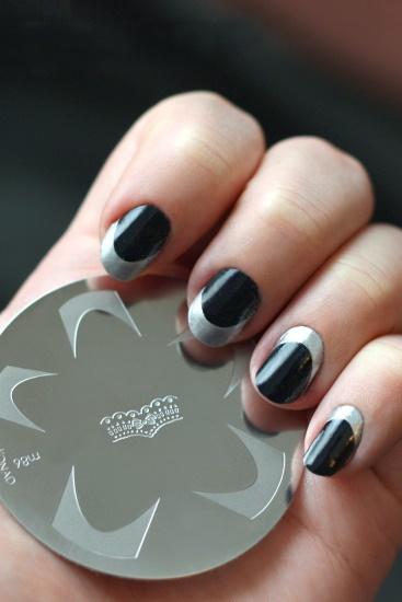 Konad M86 nail stamping