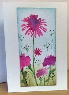 Pink Watercolour Flowers