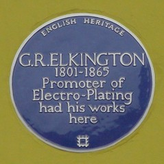 Photo of George Richards Elkington blue plaque