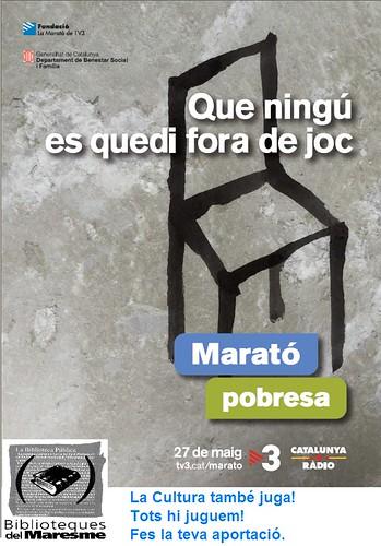Que ningú es quedi fora de joc @ marató 27 MG by bibliotecalamuntala