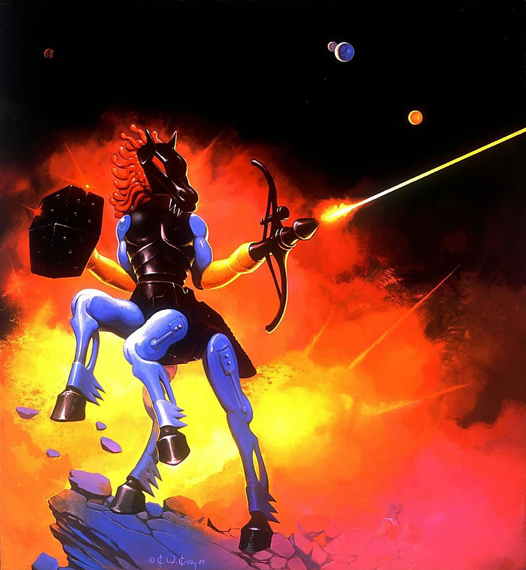 Ken Kelly - Centaurus, Micronauts Card Cover Art