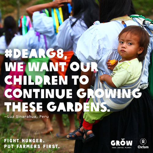 #DearG8, we want our children to continue growing these gardens.