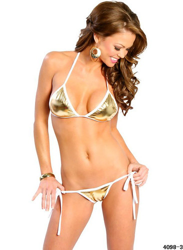 2012 Sexy Bikinis Golden White Tape In Low Price