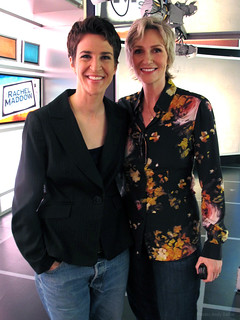 Rachel Maddow and Jane Lynch