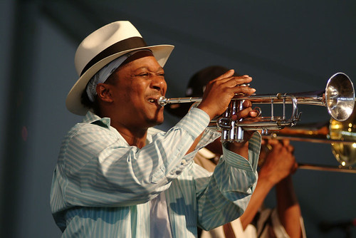 Kermit Ruffins at Jazz Fest 2007. Photo Leon Morris.