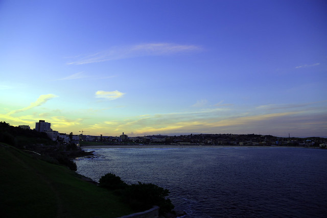 The sun sets on Bondi