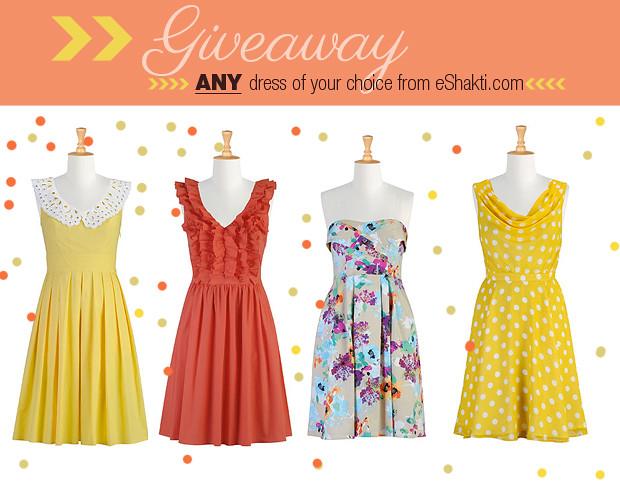 giveaway eshakti.com dress