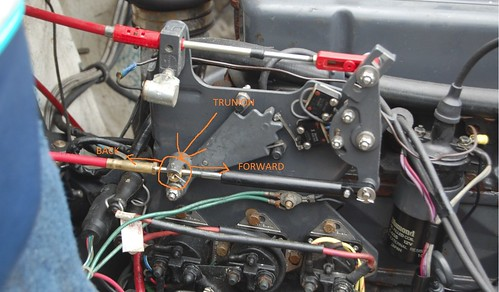 Boat Shift Cable Adjust : Changed my shift cable here is what i did note newbie