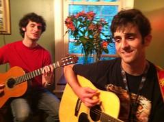 Ethan with Simon photo