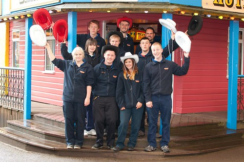 Yee-Haa! Staff at Oakwood Theme Park