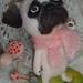 Needle-felted Pug dog