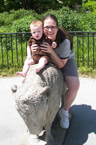 Mommy and Connor at the Zoo