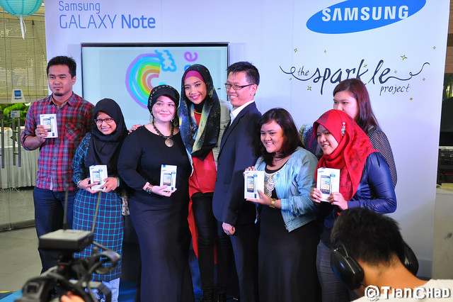 The Sparkle Project with Samsung GALAXY Note for Yuna Sparkle MV