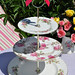 Mismatched Pink Rose Cake Stand