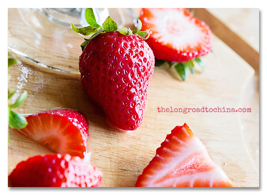 Strawberries at the base of the wine glassCROPPED BLOG