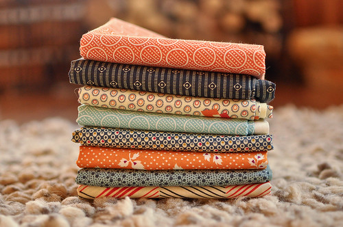 Fabrics for Maisy's quilt