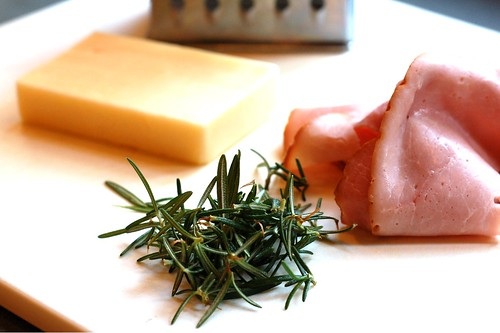 Cheddar cheese, rosemary and ham by Eve Fox, Garden of Eating blog, copyright 2012