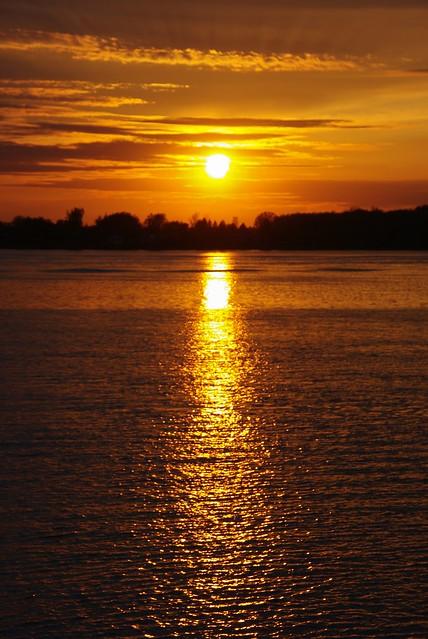 Sunset on the Saint-Laurent