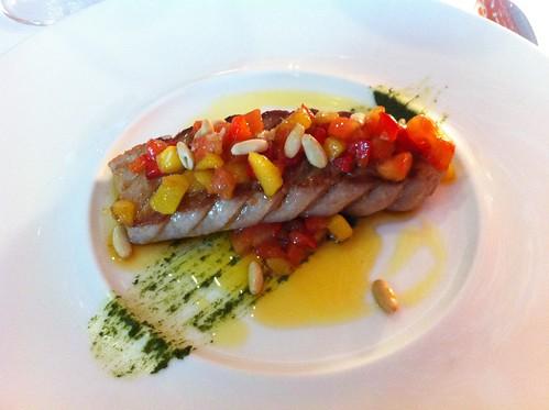 Logroño | Marisol Arriaga | Ventresca de atún con mango, piñones y pesto