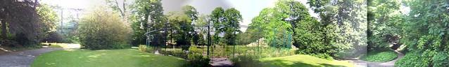 Iveagh Gardens panorama - Rose garden