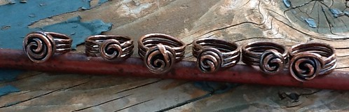 Forged copper rings by Debbie / Prairie Emporium