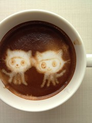Today's latte, fork it, Octocat!