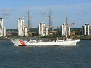 USCG Eagle WIX327 @ Gallions Reach 21-06-11