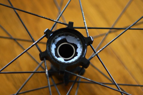 Greased rear hub
