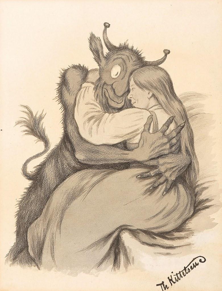 Theodor Kittelsen - Embrace, 1914