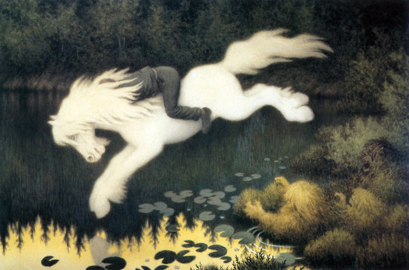 Theodor Kittelsen - The Water Spirite as a white Horse, 1909