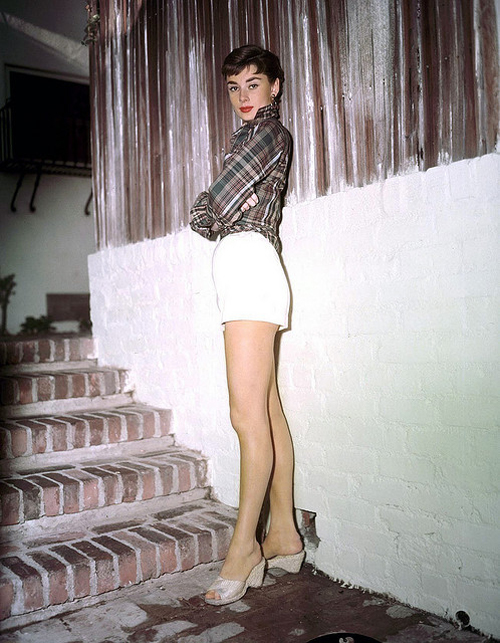 audrey hepburn in shorts
